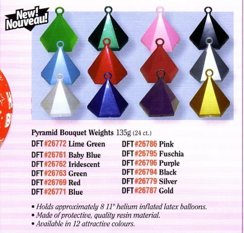 Pyramid Balloon Weights